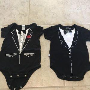 Other - 2 tuxedo onesies